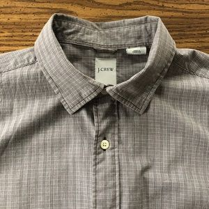 J. Crew Grey Plaid 100% Cotton Button Down